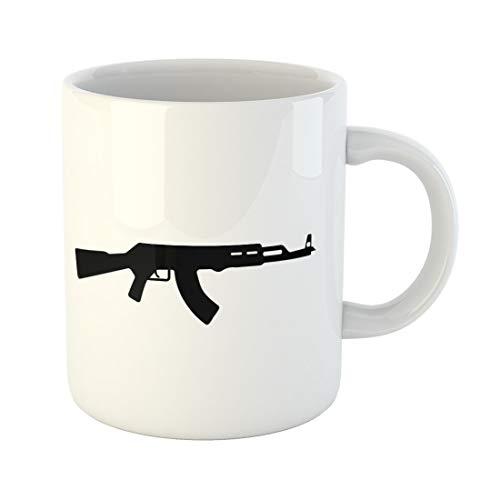 Semtomn Funny Coffee Mug Ak47 Kalashnikov Avtomatic Ammo Arms Army Assault Automatic Battle 11 Oz Ceramic Coffee Mugs Tea Cup Best Gift Or Souvenir ()