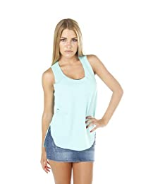 Hollywood Star Fashion Women's Plain Open Tied Back Sleevless Tank Top Shirt