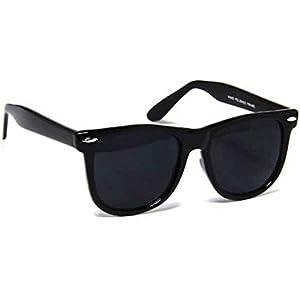 Sheomy UV Protected Sunglasses and Sun glasses combo for Men and Women Golden Full BLack -Combo Set of 3