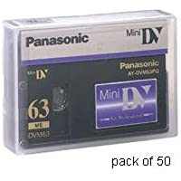 Panasonic AY DVM63PQ - Professional Quality - Mini DV tape - 50 x 63min