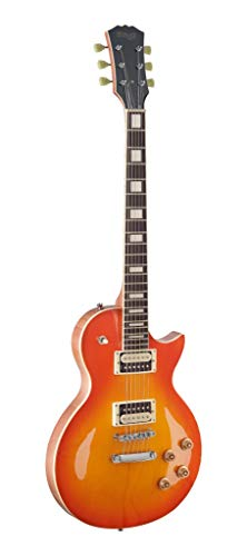 Stagg SEL-ZEB-HB L Series Zebra 6-String Electric Guitar with Solid Mahogany Body - Honeyburst