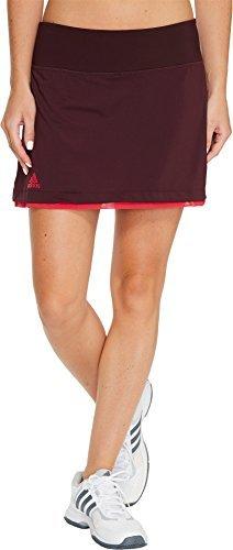 adidas Women's US Series Skirt Dark Burgundy/Energy Pink Small
