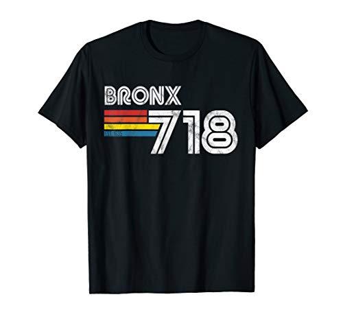 Vintage Bronx T-Shirt | Proud 718 New York City State Gift T-Shirt