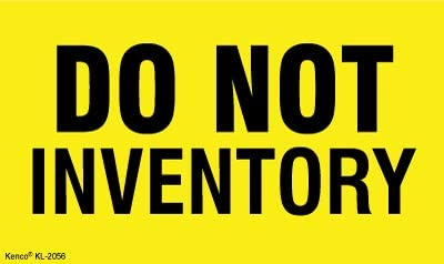 """Kenco 3"""" X 5"""" Do not Inventory Fluorescent Shipping Label Stickers - 500 Adhesive Labels Per Roll"""
