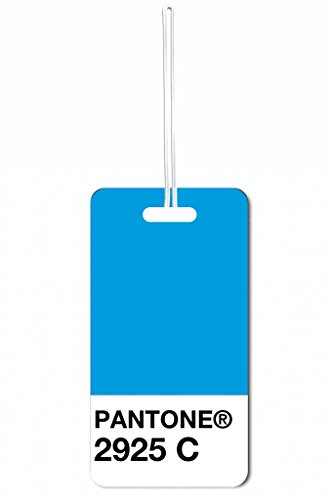 Blue Pantone Max Wilder TM Luggage Tag with Customizable Back (Pantone Luggage Tag)