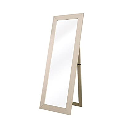 "Furniture of America DaphneIvory 72-Inch Cheval Floor Accent Mirror - Mirror Only Dimension: 19""W x 64""H. Includes Wall mount hardware. Materials consists of medium fiber board (MDF), Veneers, Metal Full Body 72"" Mirror. Rich Ivory Finished Wood Grain. - mirrors-bedroom-decor, bedroom-decor, bedroom - 31jYKPb009L. SS400  -"