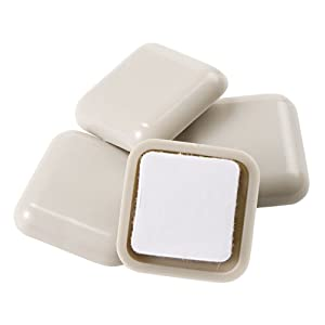 Self Stick Square Heavy Furniture Sliders For Carpeted