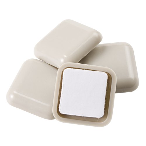 Self-Stick, Square Heavy Furniture Sliders for Carpeted Surfaces (4 pack) - 1