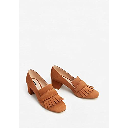 Mango Women's Fringed Leather Loafers best