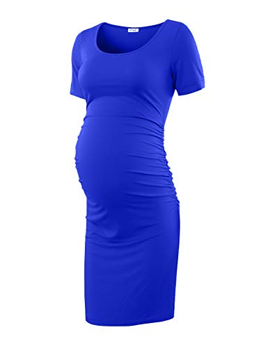 Peauty Maternity Dress for Baby Shower Royal Blue X-Large]()