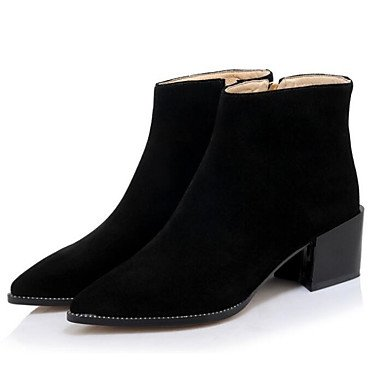 RTRY Ankle Booties Heel For Leather UK6 Casual Fashion Shoes Flat Real US8 Boots Black Pu Boots Boots Women'S CN39 EU39 Winter Khaki Fall Oqrw7O