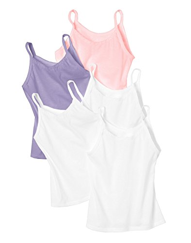 Hanes Toddler Girls' 5-Pack Cotton Cami, Assorted, (Under Cami)