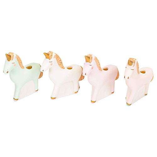 One Hundred 80 Degrees Set of 4 Boxed Unicorn Cake Candle Holders