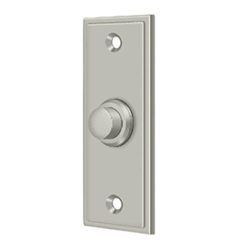 Contemporary Doorbell - Solid Brass Rectangular Contemporary Bell Button (Satin Nickel)