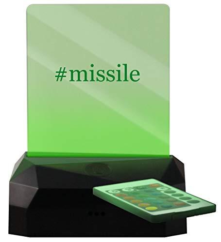 #Missile - Hashtag LED Rechargeable USB Edge Lit Sign