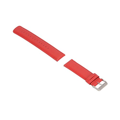 GBSELL Replacement Leather Soft Band Strap For Garmin Fenix Chronos GPS Watch (Red) ()