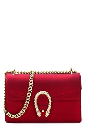 Designer Inspired Silicone Shoulder Bag (RED L)
