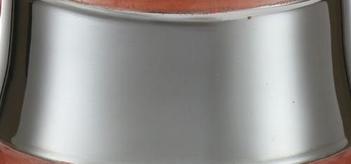 Wash Cup for Al Netilat Yadayim Hand Washing Ritual Aluminum Swirl Painted Design with Silver Middle Band (Brown) by Judaica Place (Image #3)