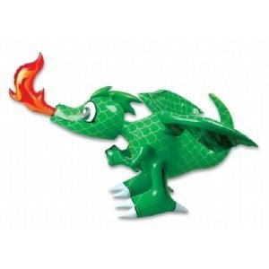 Inflatable 30-Inch Dragon - Colors may vary (Red or Green) -