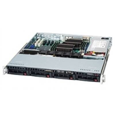 Supermicro Case Rackmount CSE-813MTQ-600CB 1U Black 600W 4xsas/SATA 4xpwm Fan ATX Retail (Daytona Bearings)