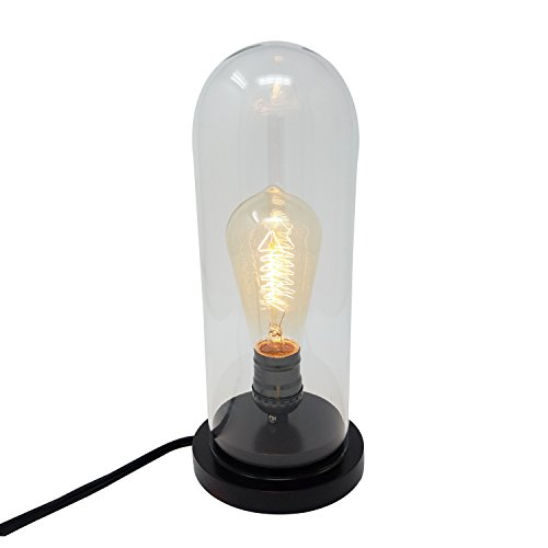 Himalayan Glow 1386 Vintage Desk Lamp Glass Shade 40W Edison Bulb Included by Wbm by Himalayan Glow
