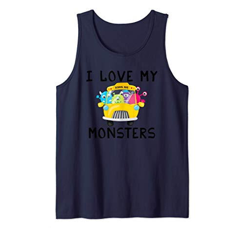 School Teacher Bus Driver Monster T-Shirt Tank Top ()