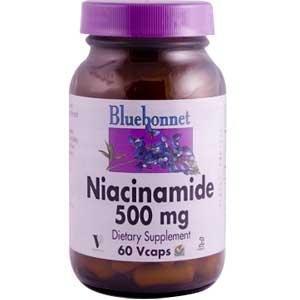 Niacinamide 60 VCaps 500 Mg - Bluebonnet