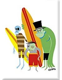 Want Artist SHAG (Josh Agle) Beach Bunch Surf Monsters Fridge Magnet saleoff