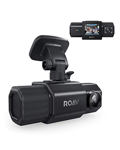 Anker Roav DashCam Duo, Dual FHD 1080p Dash Cam, Front and Interior Wide Angle Cameras, For Uber and Lyft, LCD Screen, IR Night Vision, Dual Sony Sensors, GPS, Motion Detection, and Parking Mode