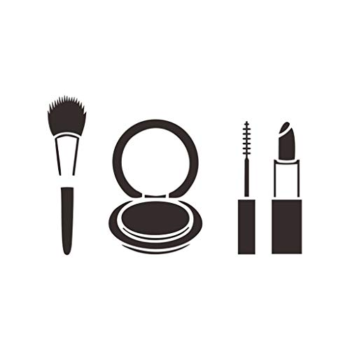 Orcbee  _Wall Decor Sticker Decal Fashion Lipstick Makeup Girl Face Popular Woman Black