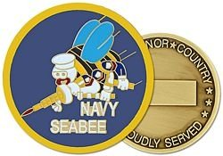 United States Navy Seabees Insignia Challenge Coin (HMC 22328) from HMC