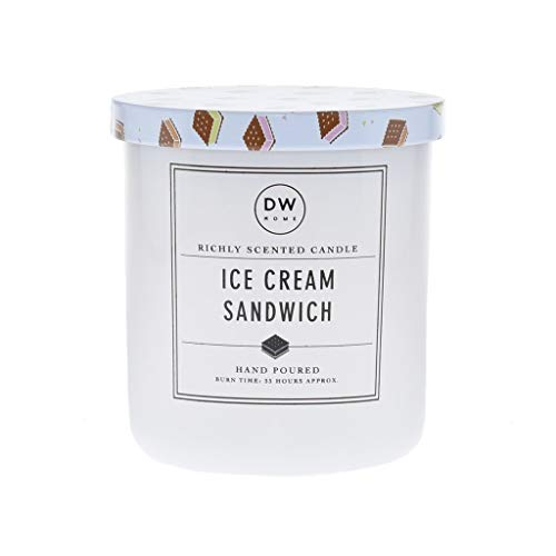 Ice Cream Scented Candle - DW Home Ice Cream Sandwich Scented Medium Single Wick Candle
