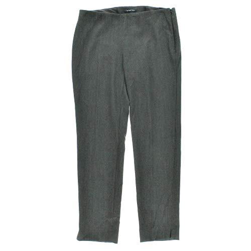 (Jones New York $99 Charcoal Gray Slim Leg Flat-Front Dress Pants Trousers 6P Short New with Tags)