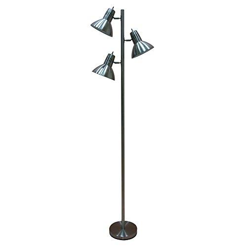 (allen + roth Embleton 68-in Brushed Nickel Multi-Head Floor Lamp with Metal Shade)