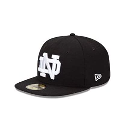sale retailer 678f3 47a6a NCAA Notre Dame Fighting Irish 5950 Black And White, Black and White, 7 1