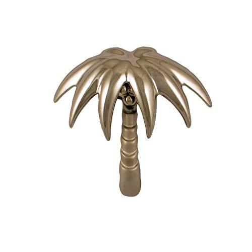 Palm Tree Door Knocker - Nickel (Premium Size)