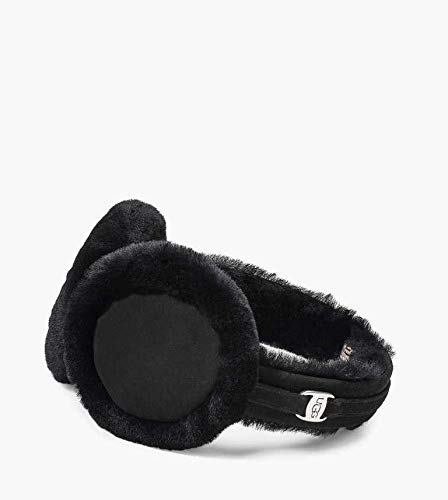UGG Women's Classic Water Resistant Sheepskin Non-Tech Earmuff Black One Size ()