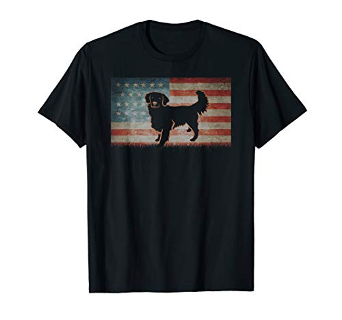 Vintage Best USA Golden Retriever Dog Dad Ever American gift T-Shirt