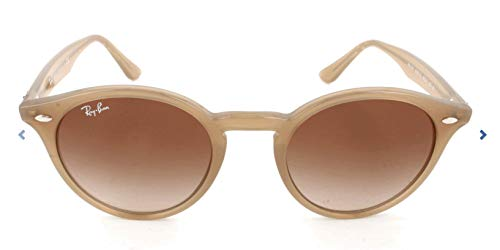 Ray-Ban RB2180 Round Sunglasses, Turtledove/Brown Gradient, 49 ()