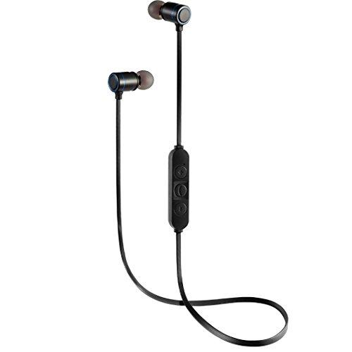SoleZa Bluetooth Headsets Wireless Sport Earphone Lightweight Stereo in-ear Earbuds Black by SoleZa (Image #1)