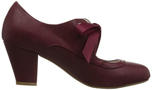 Pin Up Couture Kvinders Vrikke-32 Pump Bordeaux Imiteret Læder 1zfQULtwnn
