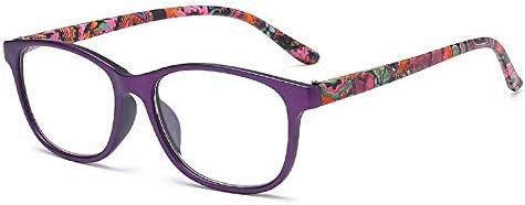 ファッション軽量快適な読者値老眼鏡高品質老眼鏡処方のための快適さフィット男性と女性,Purple,+400
