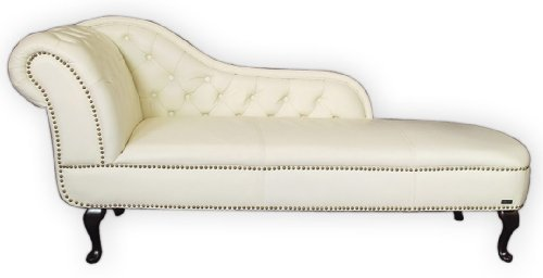 Recamiere chaiselongue  EDLES WOHNEN~ RECAMIERE/CHAISELONGUE/CHAISE LEDER WEISS: Amazon.de ...
