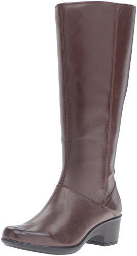 Clarks Women's Malia Skylar W Riding Boot, Rich Brown Lea...