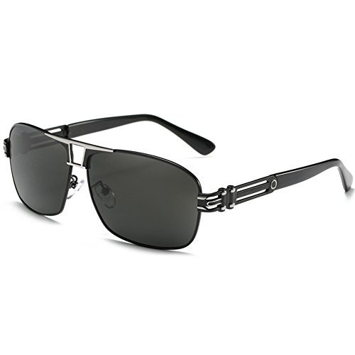 Joopin Polarized Sunglasses Men Polaroid Driving Sun Glasses Mens Sunglass (black silver, as the - Pictures Sunglass