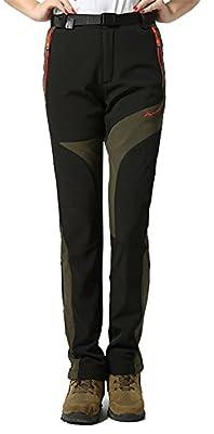 MorryOddy Women's Soft Shell Fleece Windproof Hiking Ski Pants