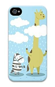 PC Hard Shell Animals Cute for Iphone 4 4s 3D Case