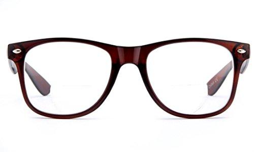 IG Wayfarer Style Comfortable Stylish Simple BiFocal Reading Glasses Brown