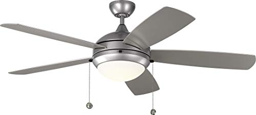 Monte Carlo 5DIW52PBSD Protruding Mount, 5 Painted Brushed Steel Blades Ceiling fan with 20 watts light, Painted Brushed Steel ()