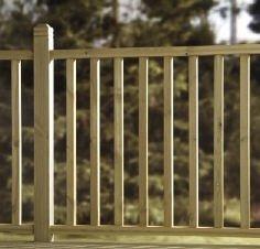 10 x Square Wood Decking Spindles 41mm Lanlee Supplies